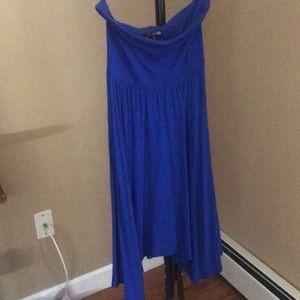 Woman's express strapless dress